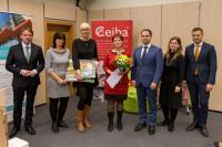 Městská knihovna Pohořelice, společná fotografie s vítěznou knihovnou