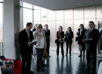 Vernisáž zahájili Jan Rybnikář za Německou knihovnu a Hana Zakhari, hlavní organizátorka z Německého kulturniího sdružení Brno.