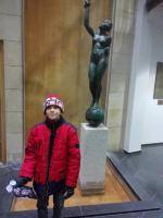 Nejmladší účastník exkurze, žák 5. třídy ZŠ Vejrostova