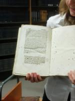 Ukázka impresa, tzv. vydavatelské poznámky v zadní části prvotisku