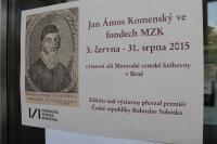 Jan Ámos Komenský ve fondech MZK v Brně