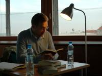 Clemens Meyer čte ze svých knih v malém sále MZK v Brně (19.10. 2010)