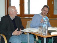 Čtení moderoval lipský bohemista Thomas Krzenck (19.10. 2010)