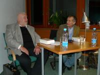Čtení moderoval profesor Jaroslav Střítecký z FF MU v Brně (3.11. 2010)