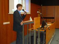 Mgr. Miroslav Jeřábek, Ph.D. přednáší o kávárnách (9.11. 201o)