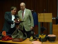 ..., jenž přivezl do Brna ukázky ze své soukromé sbírky vojenských uniforem ...