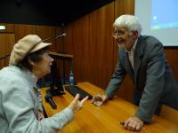 Dr. Vojen Drlík zodpovídá dotazy po své přednášce o Musilovi (30.11. 2010)