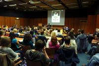 Plný kofereční sál při přednášce Aleše Filipa o secesi (12.10. 2010)